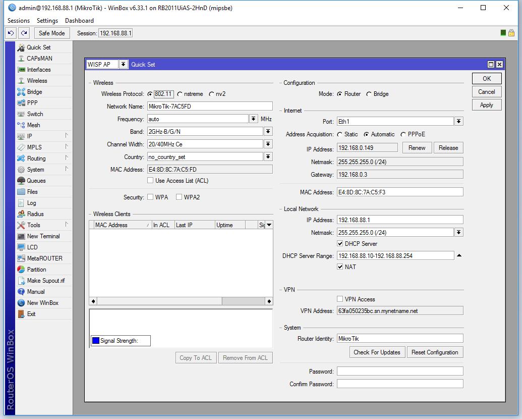 Mikrotik RB2011 introduction & initial configuration – qlr